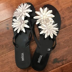 Melissa Flip Flops with large flowers